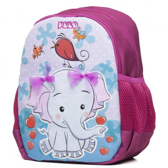 Τσάντα Νηπιαγωγείου POLO ANIMAL (Elephant) 9-01-014-8035 2020
