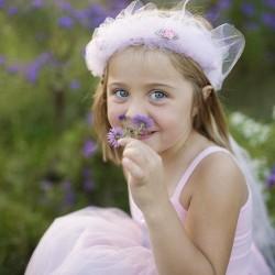 Great Pretenders Στεφανάκι μαλλιών 'Ροζ Ανοιχτό με τούλι'