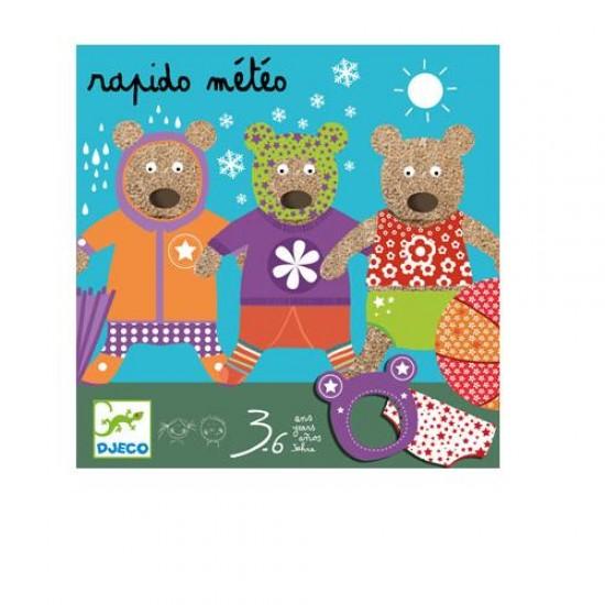 Djeco Επιτραπέζιο με κάρτες 'Ντύσε το αρκουδάκι'
