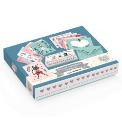 Djeco Σετ 10 Κάρτες Ευχών σε κουτί 'Lucille'