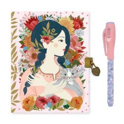 Djeco Ημερολόγιο με κλειδαριά και μαγικό μαρκαδόρο 'Κορίτσι'