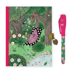 Djeco Ημερολόγιο με κλειδαριά και μαγικό μαρκαδόρο 'Δάσος'