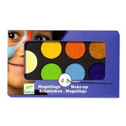 Djeco παλέτα μακιγιάζ 6 χρώματα 'Φυσικά'