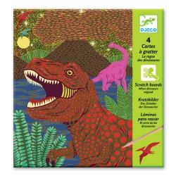 Djeco Ανακαλύπτω ξύνοντας την εικόνα 'Δεινόσαυροι'