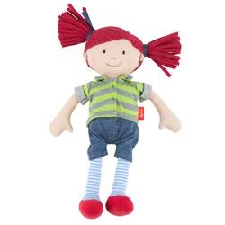 Ζιγκικιντ πάνινη κούκλα με κόκκινα μαλλάκια 32εκ.