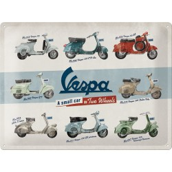 Nostalgic Μεταλλικός πίνακας  Vespa - Model Chart