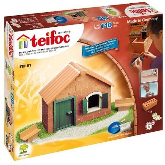 Teifoc Κεραμικά κατ. σπίτι με τούβλα σετ αρχαρίων