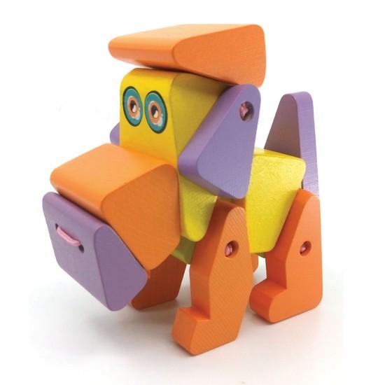 Cubika Ξύλινο Σκυλάκι με κινουμενα μέλη