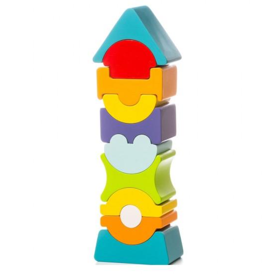 Cubika Ξύλινος Εύκαμπτος Πύργος Ισορροπίας 22εκ.