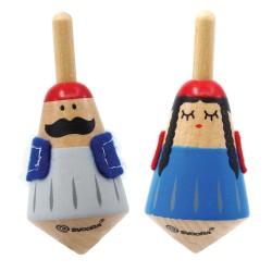 Svoora Σετ 2 τμχ. Ξύλινες Παραδοσιακές Σβούρες 'Τάσος & Γκόλφω'