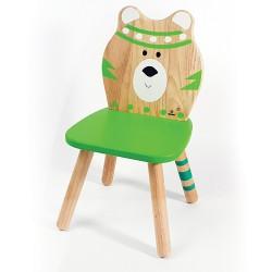 Svoora Παιδική Ξύλινη Καρέκλα Indianimals 'Αρκουδάκι' (Μασίφ Rubberwood)