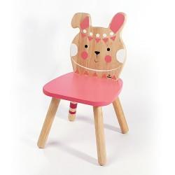 Svoora Παιδική Ξύλινη Καρέκλα Indianimals 'Λαγουδάκι' (Μασίφ Rubberwood)