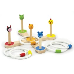 Viga Στόχος ξύλινο παιχνίδι με κρίκους σε ζωάκια