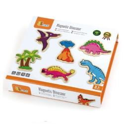 Viga Ξύλινα Μαγνητάκια 'Δεινόσαυροι' 20 τεμ.