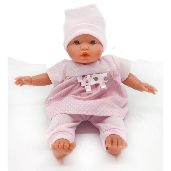 D'Nenes Κούκλα Μωρό Βινυλίου 'Ροζ Φόρεμα' 34 εκ.