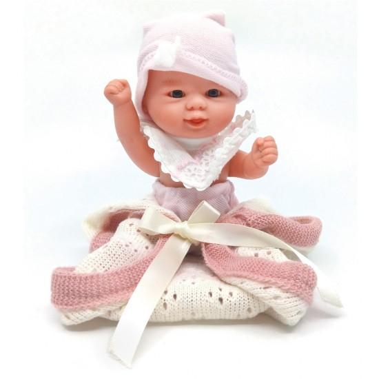 D'Nenes Κούκλα Μωρό Βινυλίου με κουβέρτα 21 εκ.
