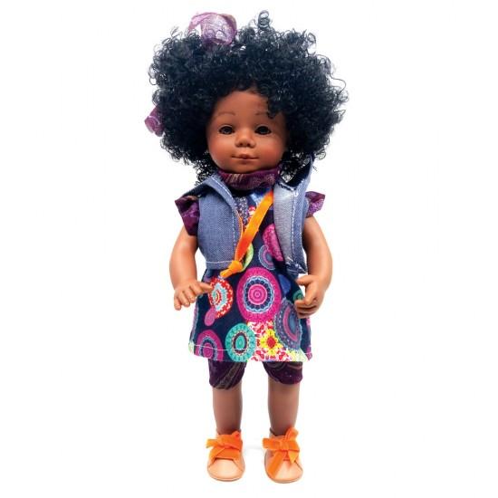 D'Nenes Κούκλα Βινυλίου 'Αφροαμερικανή' 34 εκ.
