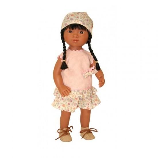 D'Nenes Κούκλα Βινυλίου 'Κινέζα Μπεζ Φόρεμα' 34 εκ.