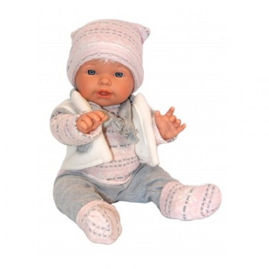 D'Nenes Κούκλα Μωρό Βινυλίου 'Ροζ ρούχα' 48 εκ.