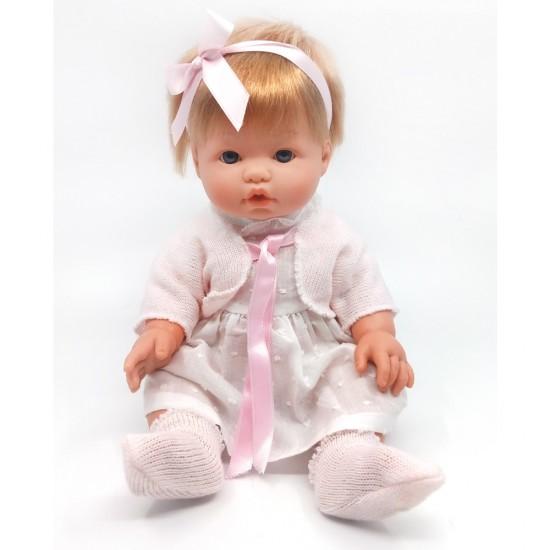D'Nenes Κούκλα Μωρό Βινυλίου 'Φόρεμα και κορδέλα' 34 εκ.