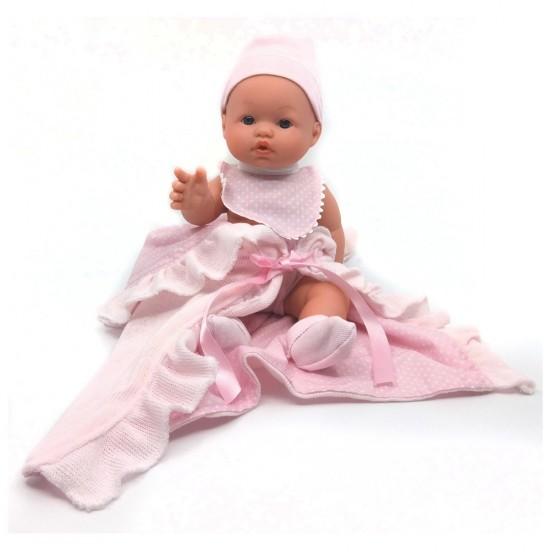 D'Nenes Κούκλα Μωρό Βινυλίου 'Σαλιάρα και κουβέρτα'' 34 εκ.