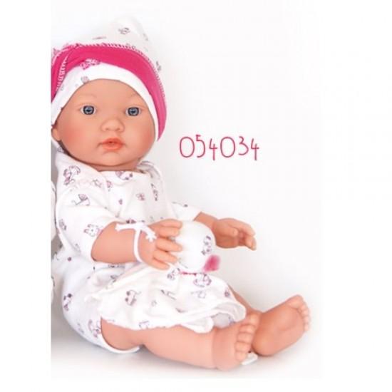 D'Nenes Κούκλα Μωρό Βινυλίου 'Κορίτσι με αρκουδάκι' 34 εκ.