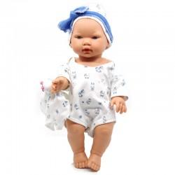 D'Nenes Κούκλα Μωρό Βινυλίου 'Αγόρι με αρκουδάκι' 34 εκ.