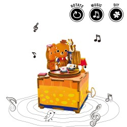 "Robotime 3D Ξύλινη Κατασκευή - Μουσικό Κουτί ""DIY Music Box - AM310 - Love Story"""