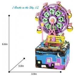 "Robotime 3D Ξύλινη Κατασκευή - Μουσικό Κουτί ""DIY Music Box - AM402 - Ferris Wheel"""
