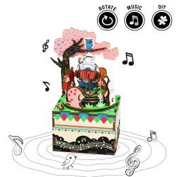 "Robotime 3D Ξύλινη Κατασκευή - Μουσικό Κουτί ""DIY Music Box - AM404 - Forest Concert"""