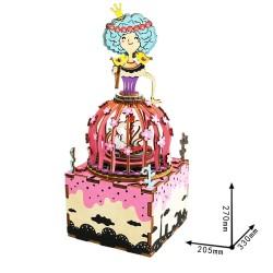 "Robotime 3D Ξύλινη Κατασκευή - Μουσικό Κουτί ""DIY Music Box - AM405 - Princess"""