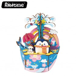 "Robotime 3D Ξύλινη Κατασκευή - Μουσικό Κουτί ""DIY Music Box - AMD51 - Dream Series - Ocean Park"""