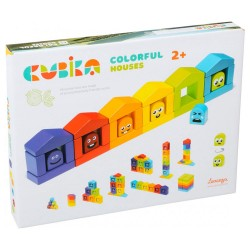 Cubika Ξύλινο Παιχνίδι 'Συναισθήματα με χρώματα'