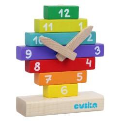 Cubika Ξύλινα τουβλάκια - Ρολόι - 10 τεμ.