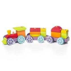 Cubika Ξύλινο Τρένο Ταξινόμησης 42 εκ.