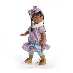 D'Nenes Κούκλα Βινυλίου 'Κινέζα Ροζ Φόρεμα' 34 εκ.