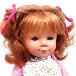 D Nenes Κούκλα Βινυλίου - Κόκκινα μαλλιά με φακίδες - 34 εκ.