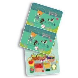 Djeco Μίνι σπαζοκεφαλιές 30 καρτών - βρες τις διαφορές