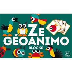 Djeco εκπαιδευτικό παιχνίδι σύνθεσης εικόνας με ξύλινα τουβλάκια - ζωάκια