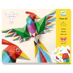Djeco Κατασκευάζω με χαρτί τρισδιάστατα - Πουλιά Αμαζονίου