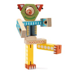 Djeco Ξύλινο Εκπαιδευτικό παιχνίδι - Κατασκευή ρομπότ με ελαστικές αρθρώσεις