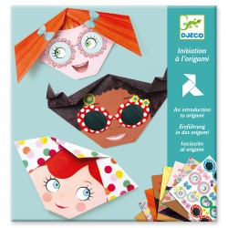 Djeco Οριγκάμι κατασκευή - Προσωπάκια κοριτσιών