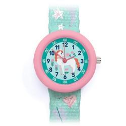 Djeco παιδικό ρολόι χειρός Αλογάκι - ανθεκτικό BPA free