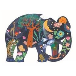 Djeco Παζλ Art 150 κομμάτια - Ελέφαντας