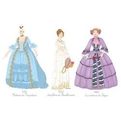 Djeco Ζωγραφική με μαρκαδόρους και νερομπογιές - Φορέματα εποχής