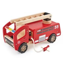 PinToy Ξύλινο Πυροσβεστικό όχημα από μασίφ καουτσουκόδεντρο