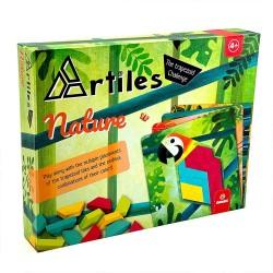 Svoora Artiles Σύνθεση Σχημάτων με Ξύλινα Τουβλάκια και 4 Κάρτες - Φύση